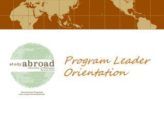 Program Leader Orientation