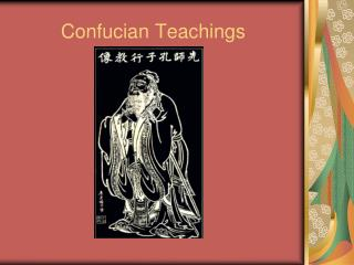 Confucian Teachings