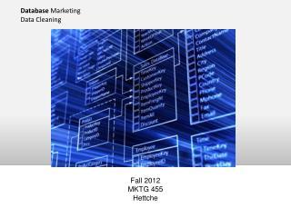Database  Marketing Data Cleaning