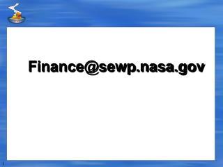 Finance@sewp.nasa