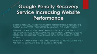 Effective Google Penalty Recovery Service-helps to bring bac