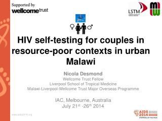 HIV self-testing for couples in  resource-poor contexts in urban Malawi