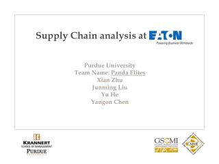 S upply Chain analysis at