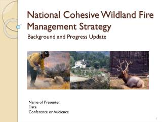 National Cohesive Wildland Fire Management Strategy