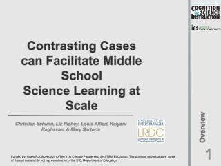 Contrasting Cases  can  Facilitate  Middle  School  Science  Learning at Scale
