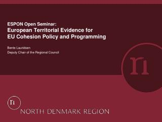 ESPON Open Seminar: European Territorial Evidence for EU Cohesion Policy and Programming