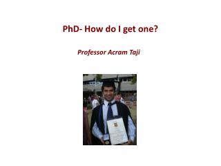Professor Acram Taji