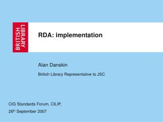 RDA: implementation