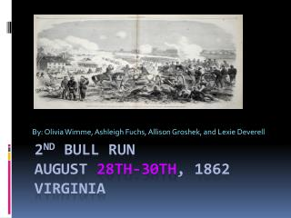 2 nd  Bull Run  August  28th-30th , 1862 Virginia