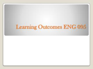 Learning Outcomes ENG 095