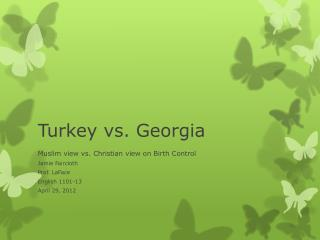 Turkey vs. Georgia