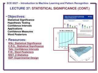 LECTURE  37:  STATISTICAL  SIGNIFICANCE (CONT.)