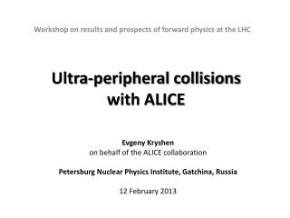 Ultra-peripheral collisions  with ALICE