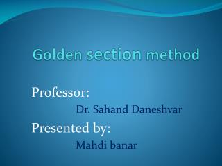 Golden  section  method