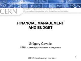 FINANCIAL MANAGEMENT  AND BUDGET