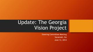 Update: The Georgia Vision Project