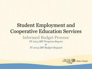 Student Employment and Cooperative Education Services