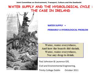 WATER SUPPLY  AND  THE HYDROLOGICAL CYCLE : THE CASE IN IRELAND