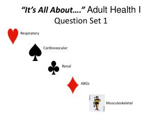 """It's All About….""  Adult Health I Question Set 1"