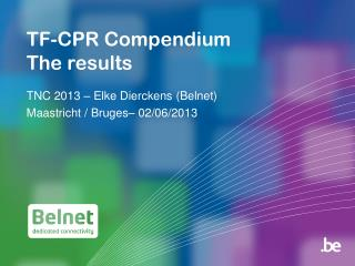 TF-CPR Compendium The results