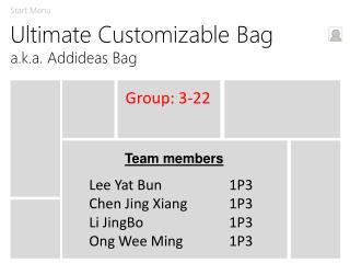 Ultimate Customizable Bag a.k.a. Addideas Bag