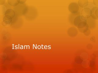 Islam Notes