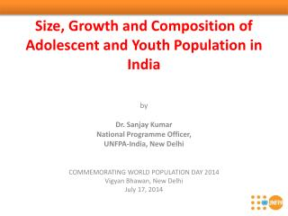 Size, Growth and Composition of Adolescent and Youth Population in India