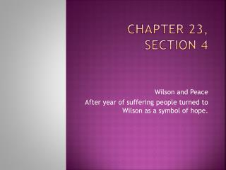 Chapter 23, Section 4