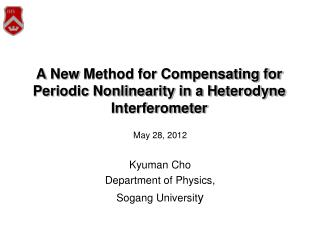 A New Method for Compensating for Periodic Nonlinearity in a Heterodyne Interferometer