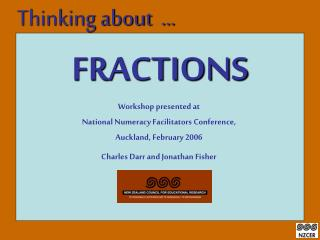 Workshop presented at National Numeracy Facilitators Conference,  Auckland, February 2006