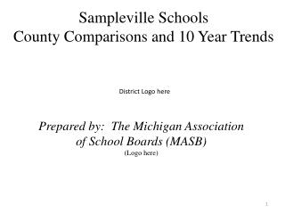 Sampleville Schools County Comparisons and 10 Year Trends