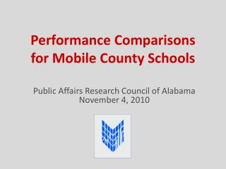 Performance Comparisons  for Mobile County Schools
