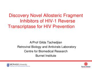 Discovery Novel Allosteric Fragment Inhibitors of HIV-1 Reverse Transcriptase for HIV Prevention