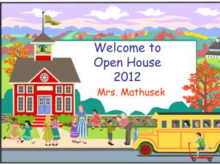 Welcome to  Open House 2012