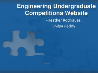 Engineering  Undergraduate Competitions Website