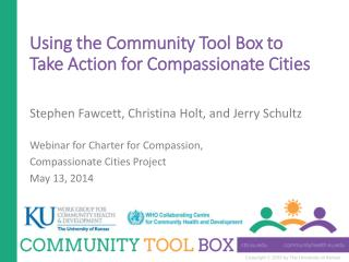 Using the Community Tool Box to Take Action for Compassionate Cities