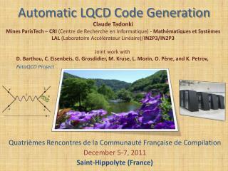 Automatic LQCD Code Generation