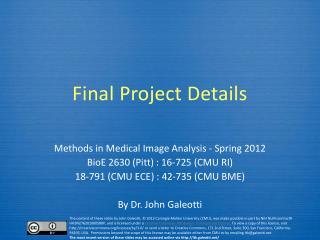 Final  Project Details