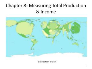 Chapter 8- Measuring Total Production & Income