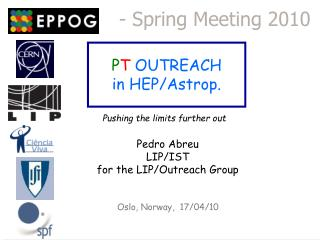 P T OUTREACH in  HEP/ Astrop .