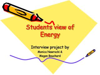 Students view of Energy