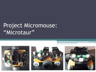 "Project  Micromouse : "" Microtaur """