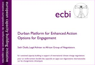 Durban Platform for Enhanced Action Options for Engagement