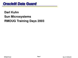 Oracle9i Data Guard