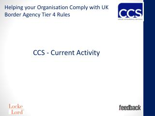 CCS  - Current Activity
