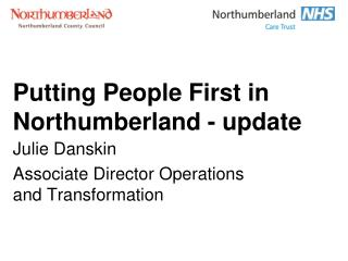 Putting People First in Northumberland - update