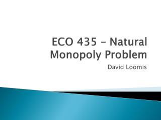 ECO 435 – Natural Monopoly Problem
