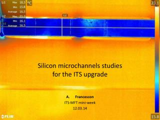 Silicon microchannels studies  for the ITS upgrade