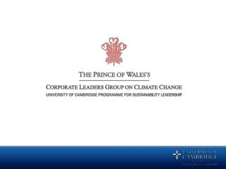 The UK Corporate Leaders Group on Climate Change (UK CLG)