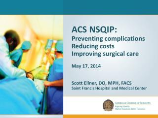 ACS NSQIP: Preventing complications Reducing costs Improving surgical care May 17,  2014